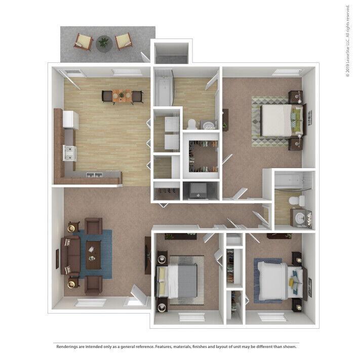 Jacksonville, FL Timberwood Trace Apartments Floor Plans