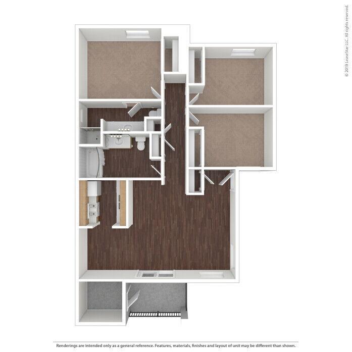 Tulare, CA Cambridge Court Apartments Floor Plans