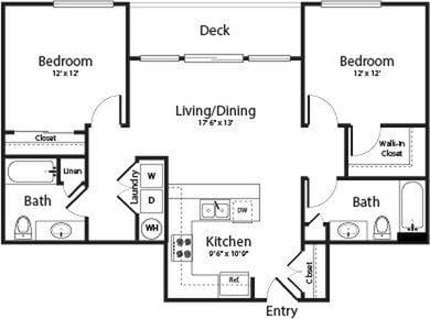 Two Bedroom Two Bath D