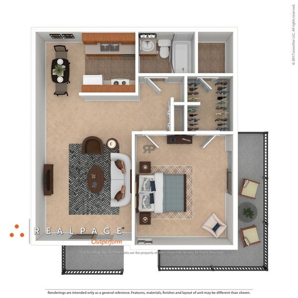 A2 1 Bedroom starting at $750-$785