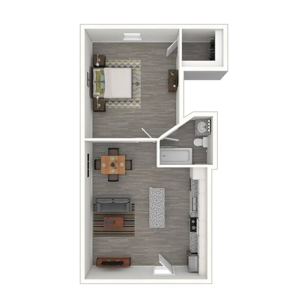 One Bedroom - Remodeled