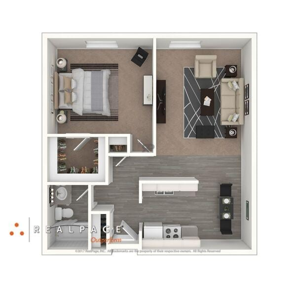 A1 - One Bedroom, One Bathroom $830- $880